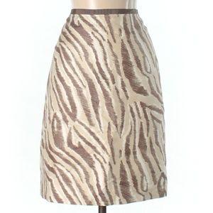Ann Taylor LOFT Zebra Print A-Line Career Skirt